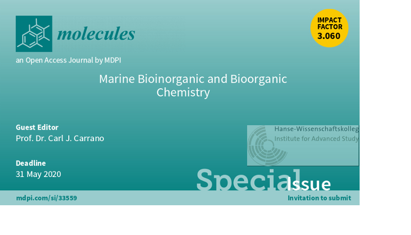 Carrano guest editor special issue of journal Molecules